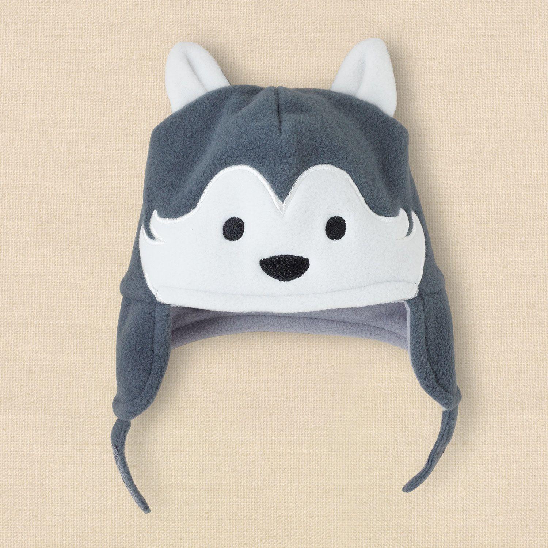 newborn boys husky fleece hat