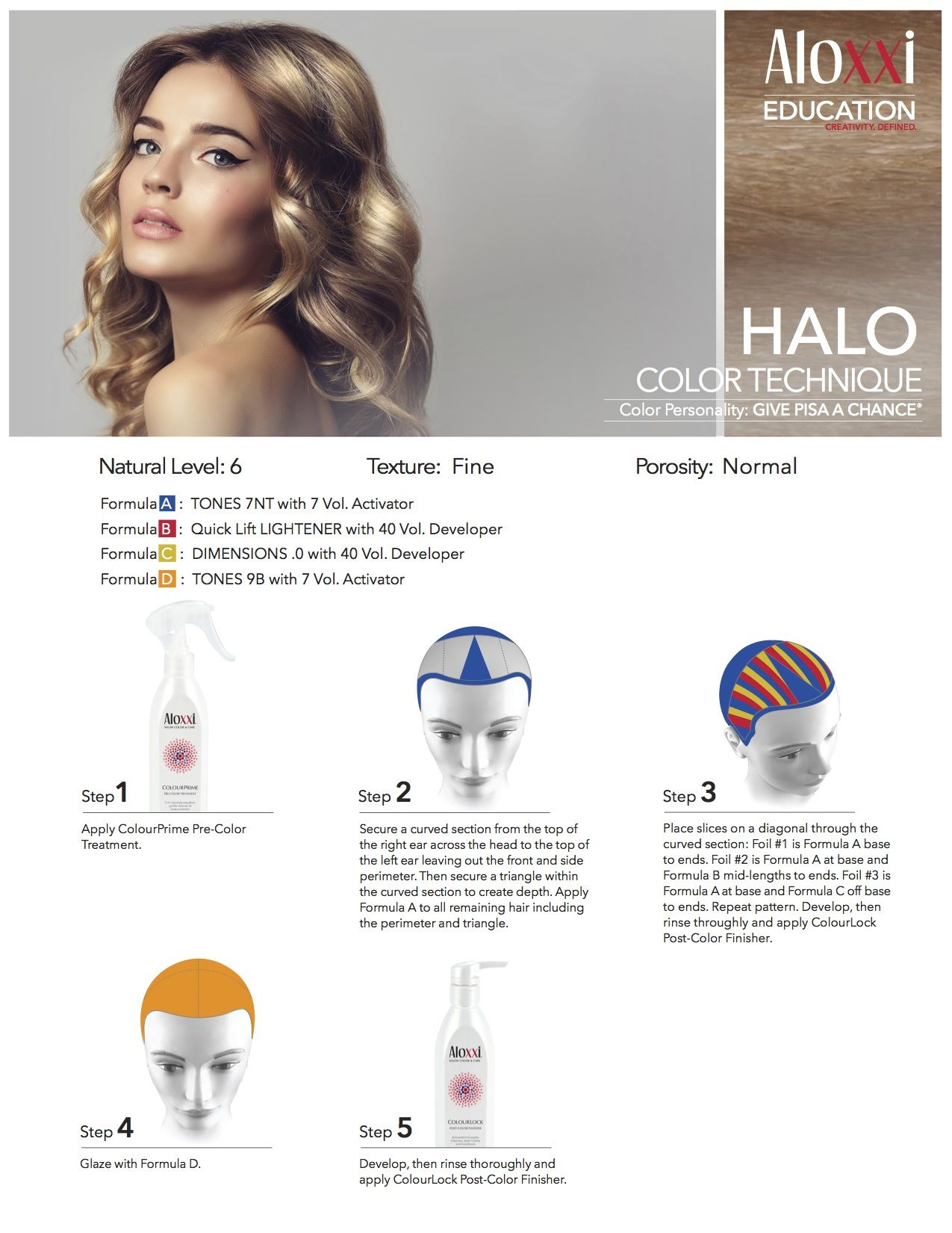 Aloxxi Education Halo Hair Color Technique Color Personality Give