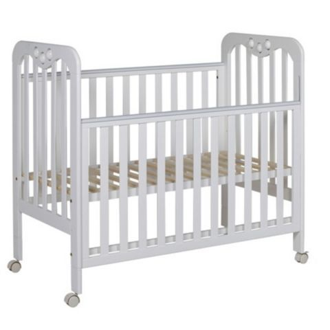 Tesco Direct Tutti Bambini Jenny Cot White Wheels Great Cot