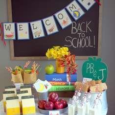 Healthy Back to School Party  - School room
