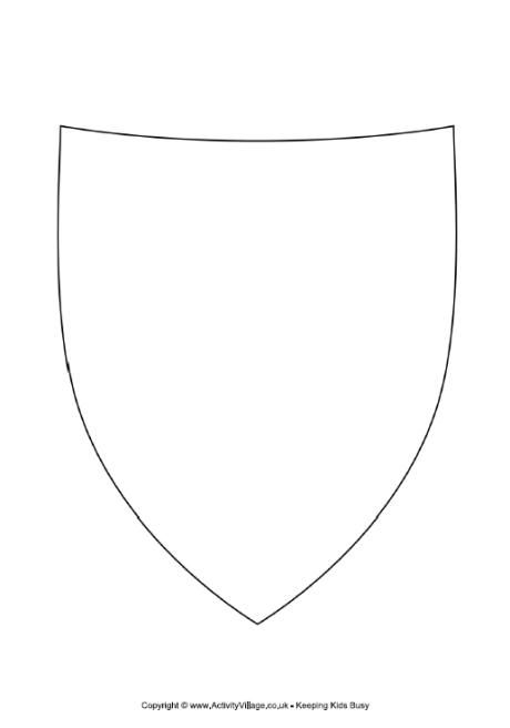 Decorate the shield shield template princess prince for Shield template to print