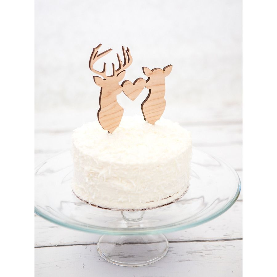 Deer and buckhead wedding cake topper glitter cake wedding cake
