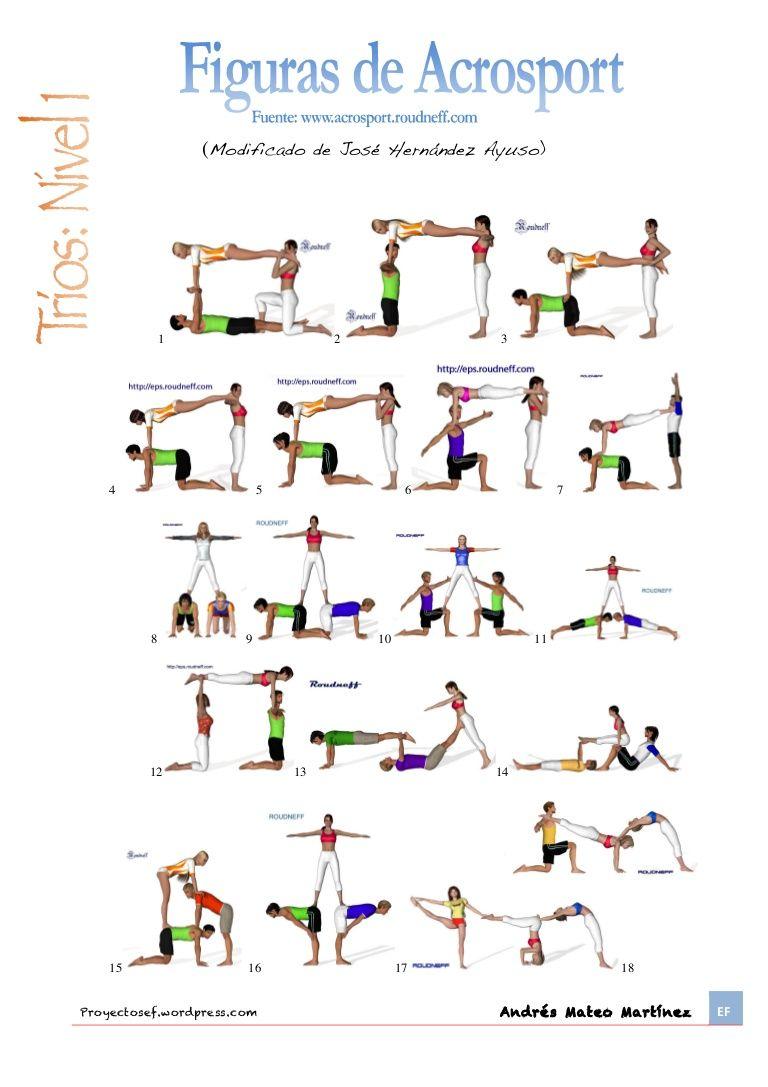 Figures acrosport | ef | Pinterest | Yoga, Physical education and School