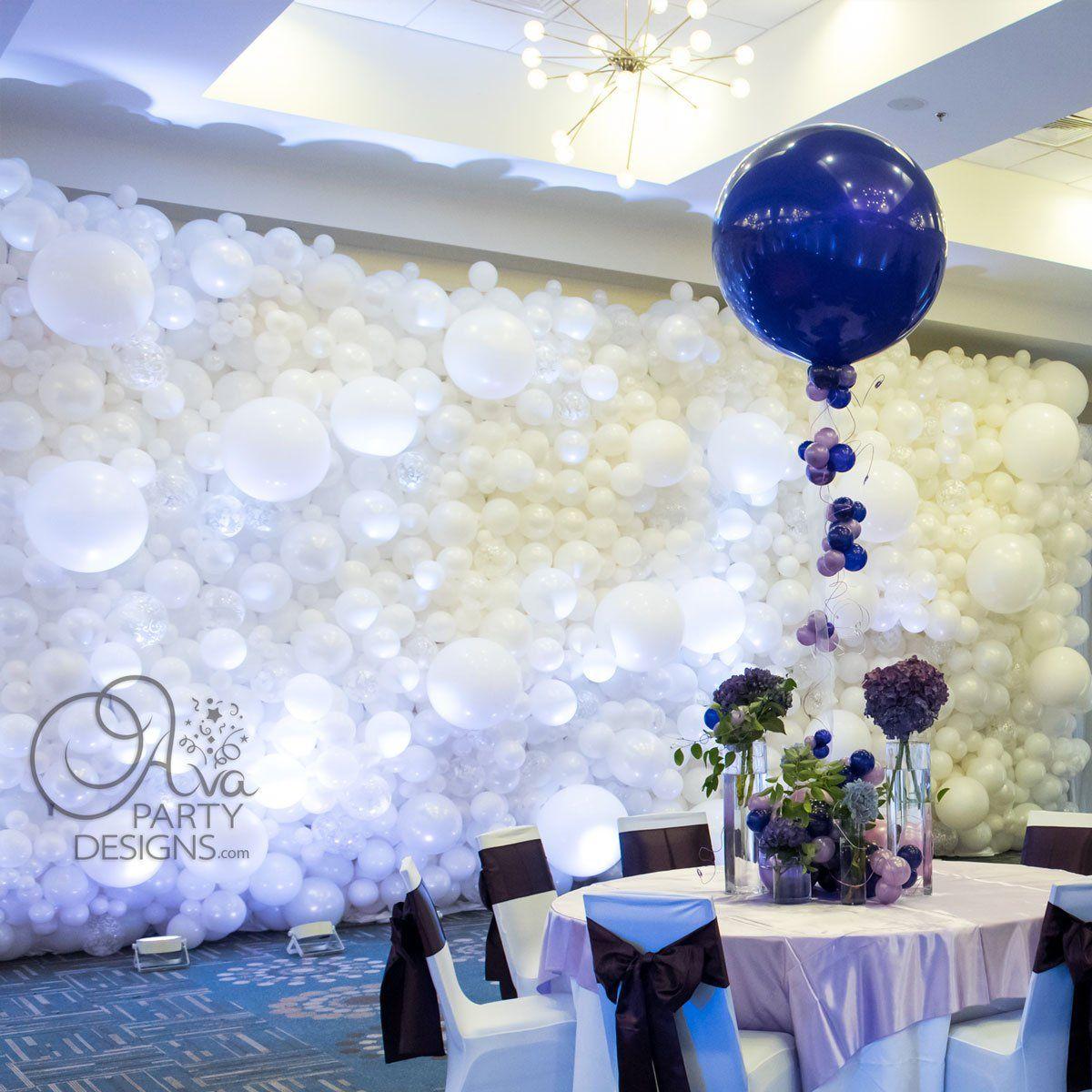 Balloon Decor Gallery Ava Party Designs Ct Ny Black And