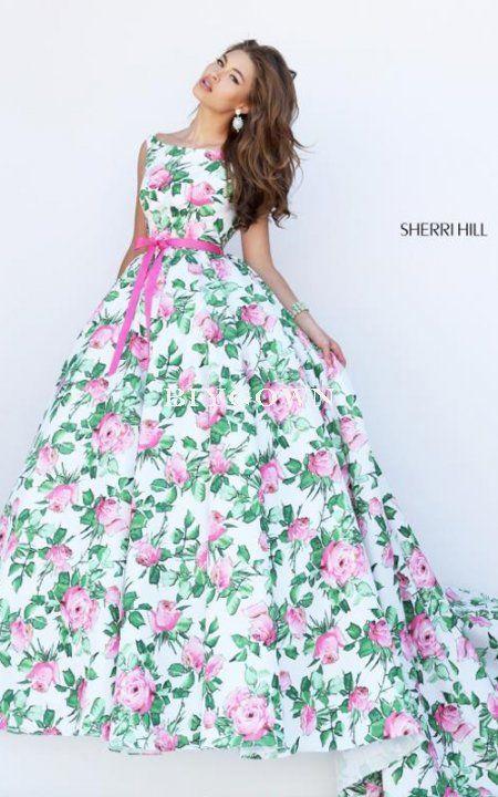 Sherri Hill 50484 2016 Green Prom Dress Ball Gowns
