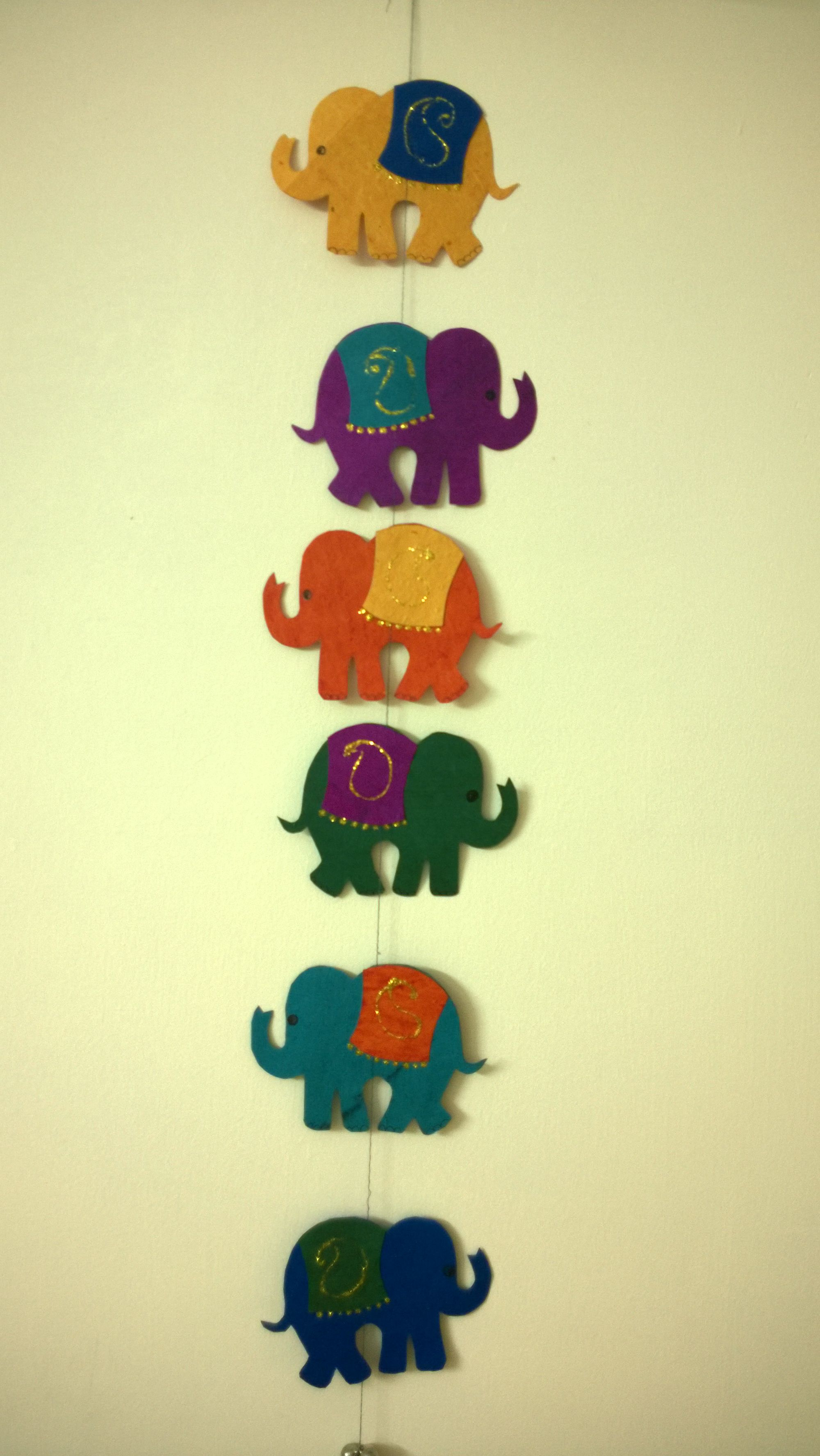 Colourful Indian style Elephant wall hanging...!!! I feel its an ...