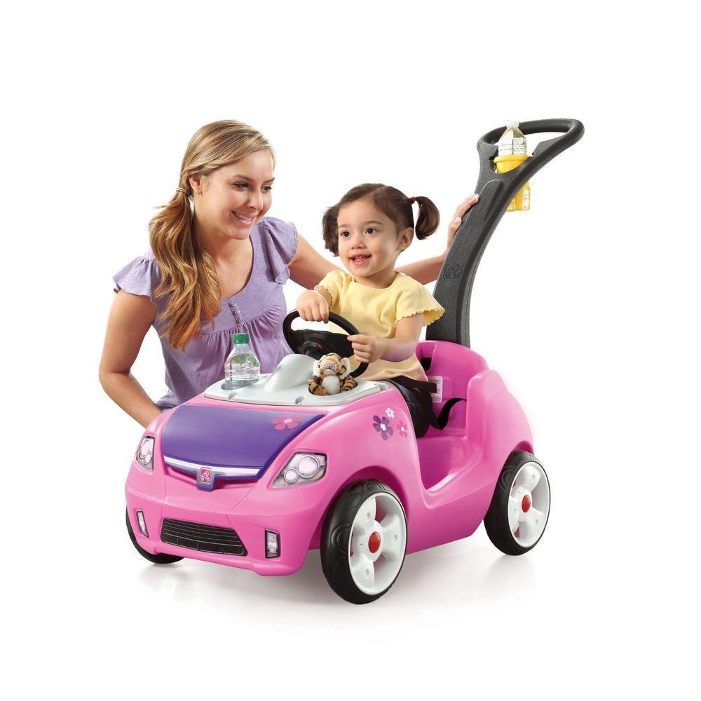 kids girls outdoor riding push toy toys car big wheel pink walker baby toddler