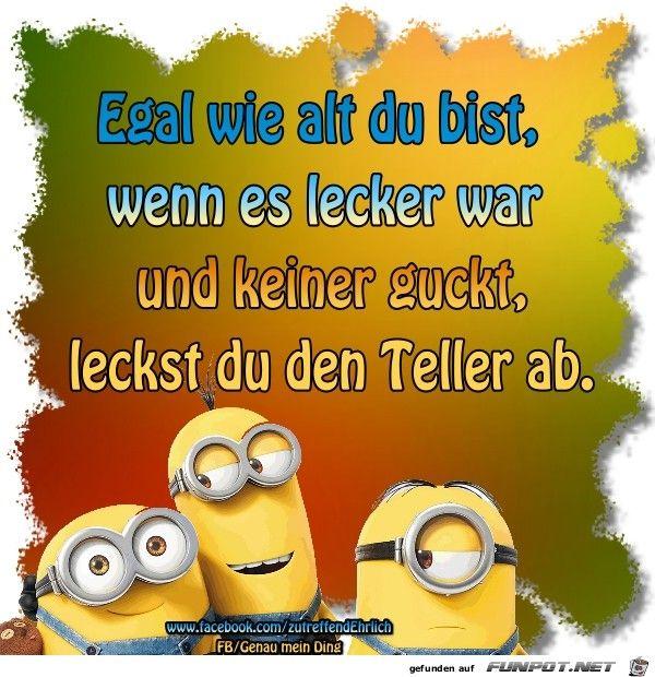 Lustige Sprüche mit Minions. | Minions funny, Minions ...