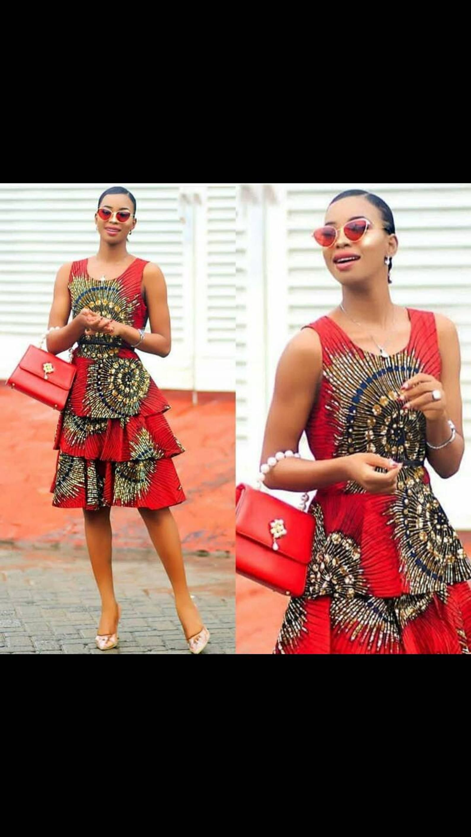 Simi African dress, Ankara dress, African clothing, women clothing, women dress, African dress #africandressstyles
