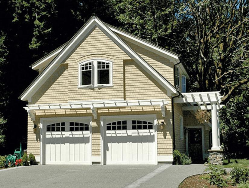 27 Best Garage Design And Decoration Ideas In Managing Your Storage Carriage Style Garage Doors Garage House Garage Design