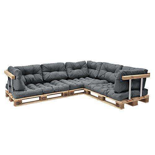 Palettenkissen 11teilige Garten Lounge mit Kissen und Polster - lounge gartenmobel gunstig
