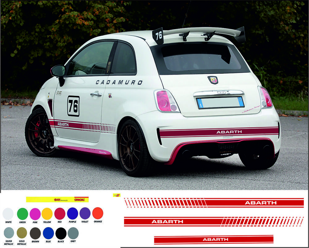 Sponsored Ebay Fiat Abarth Racing Stripes Kit Stickers Racing