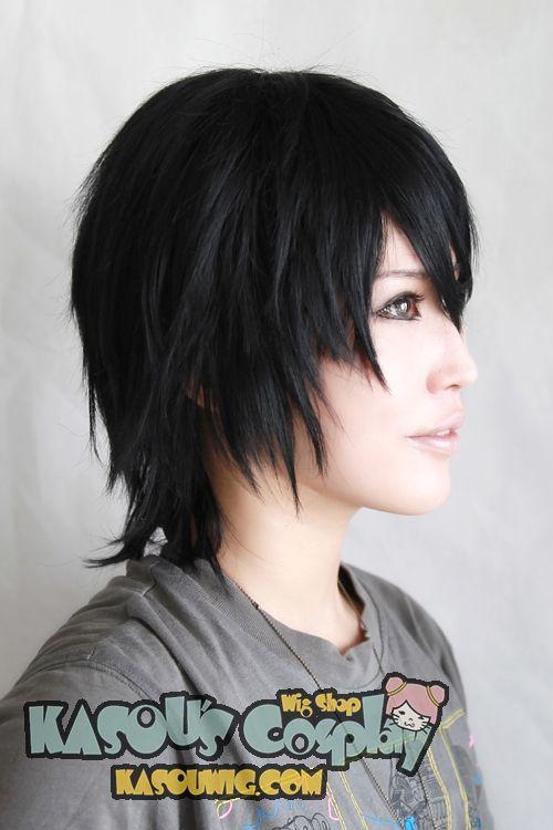 Kasou Wig Sword Art Online Kirito Kirigaya Kazuto Short Layer Black Cosplay Wig Ka032 Black Cosplay Wig Cosplay Wigs Sword Art Online Kirito