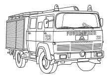 feuerwehr malvorlagen ausmalbilder feuerwehrauto feuerwehrmann in 2020   malvorlage feuerwehr