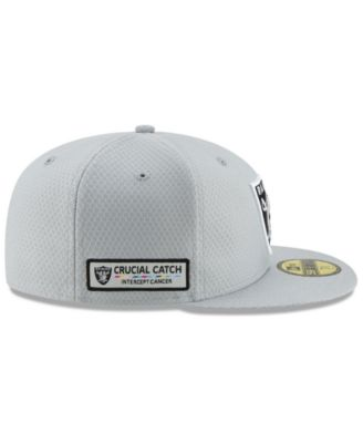 c2a15120fc6 New Era Oakland Raiders Crucial Catch 59FIFTY Fitted Cap - Gray 7 1 ...
