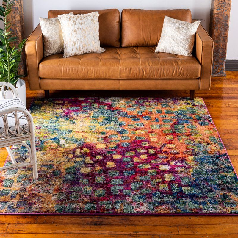 Massaoud Pink Green Area Rug Area Rugs Square Rug Rugs