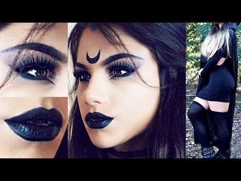 Dark / Evil Fairy Halloween Makeup Tutorial | KatesBeautyStation - YouTube