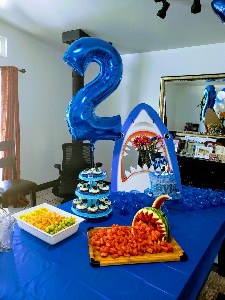 Shark birthday theme 2 year old 1st birthday party games