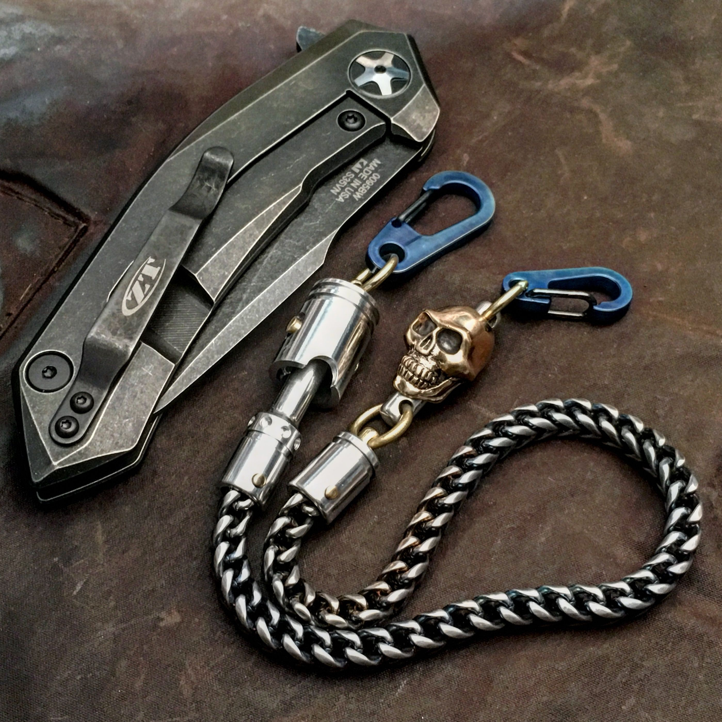 Small Wallet Chain: Titanium carabiners, Stanley Steel ...