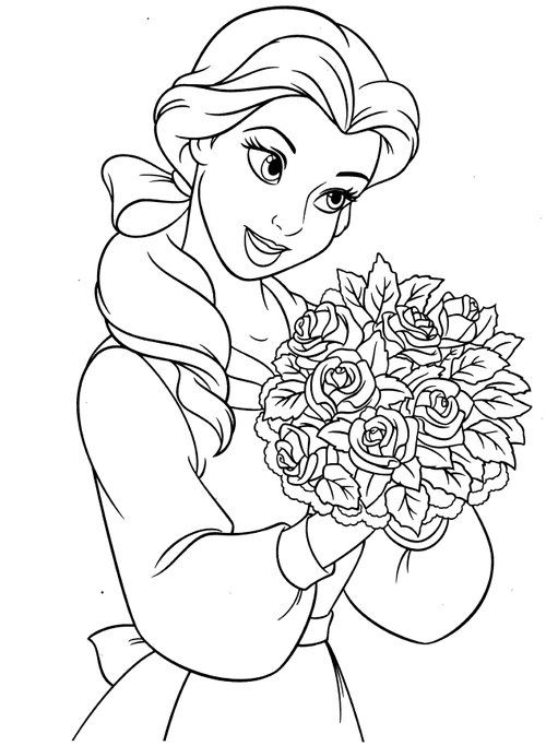Free Coloring Pages For Kids Disney Princesses Belle Coloring Pages Belle Coloring Pages Rose Coloring Pages Disney Coloring Sheets