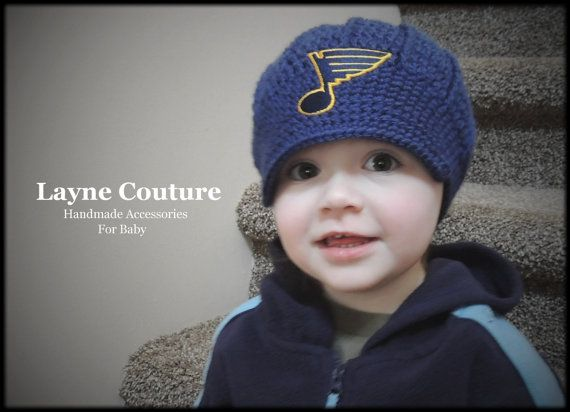 7f688248493 The Original St. Louis Blues Crochet Newsboy Hat by LayneCouture ...