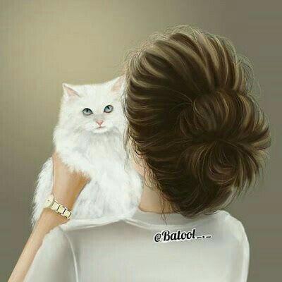 Pin On Girl Cat