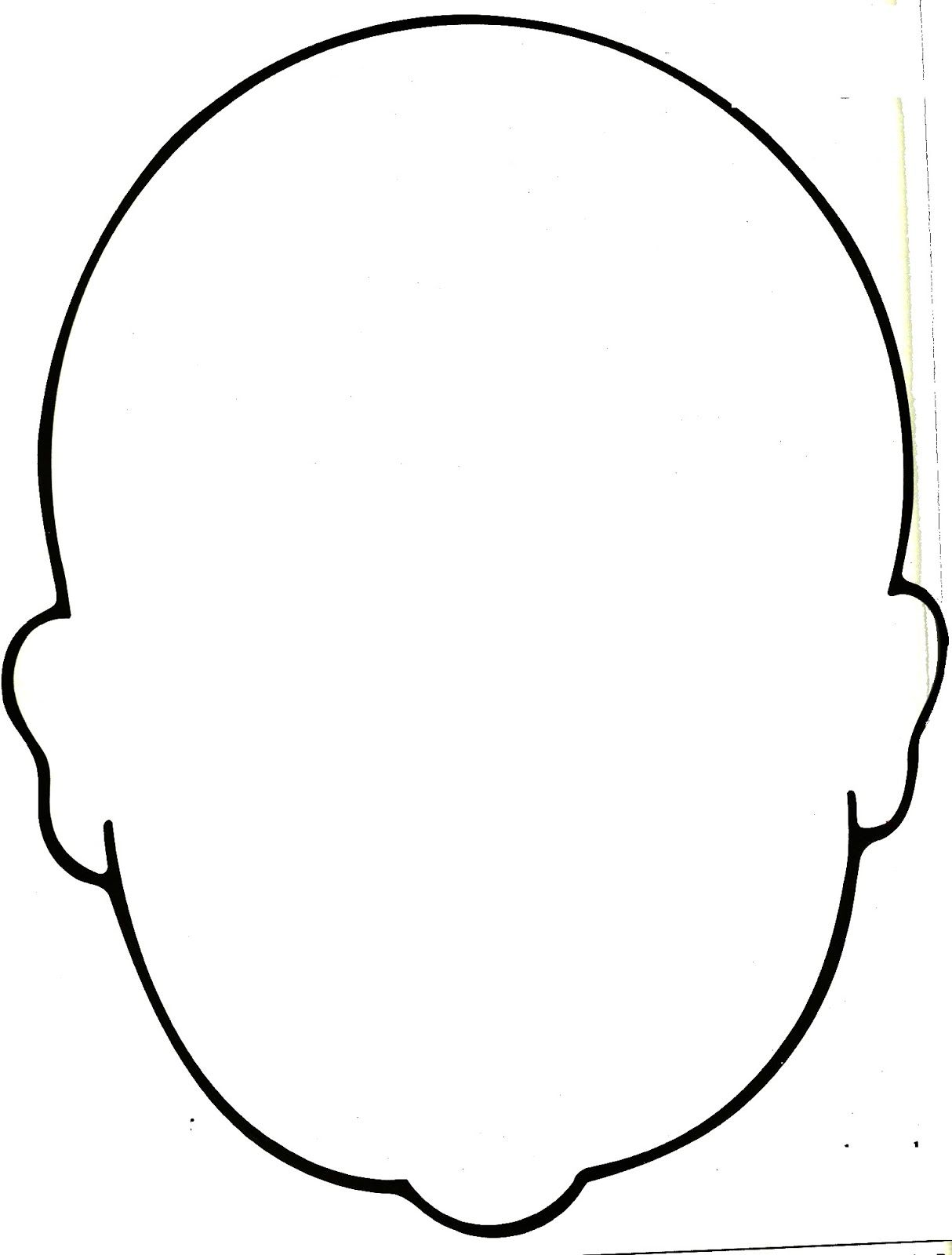 It's just an image of Blank Face Printable within drawing