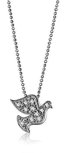 ec1d4b16fa6e5 Alex Woo Little Faith Diamond and 14k White Gold Peace Dove Pendant Necklace  16     Click on the image for additional details.Note It is affiliate link  to ...