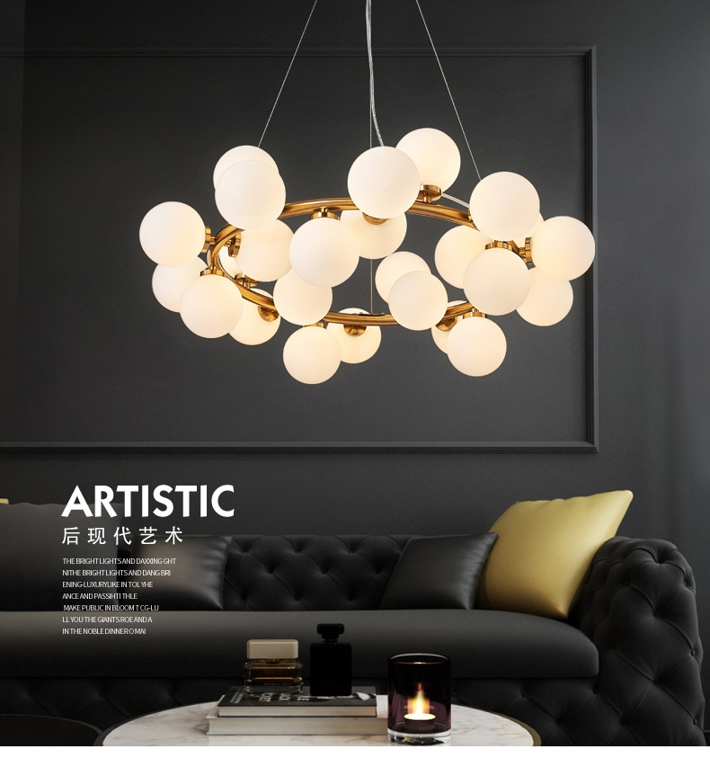 Mordern Led Pendant Lights With 25 Bulb Simple Dining Room American Style Hanging Lamp Gl Kitchen 005