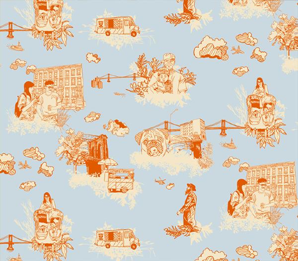 Brooklyn Toile De Jouy on Behance Toile wallpaper, Toile