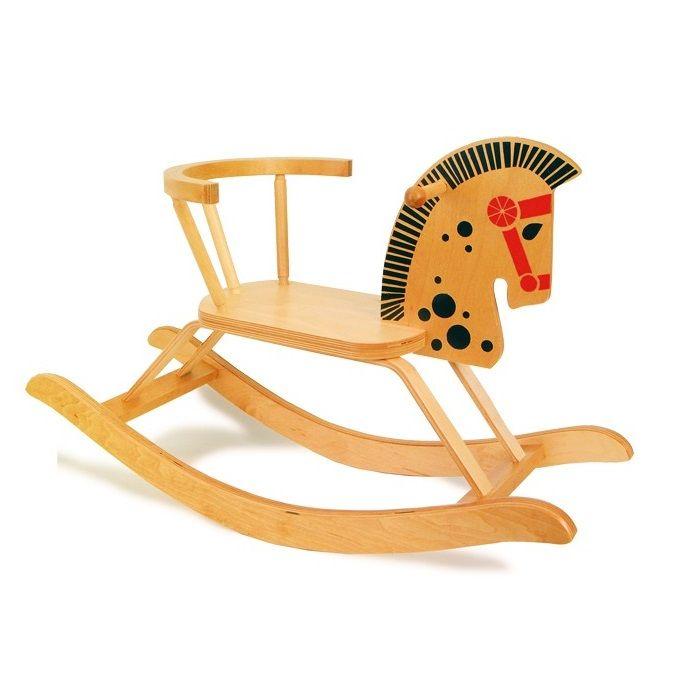 juguete balancn de madera para nios en forma de caballo motricidad educacion