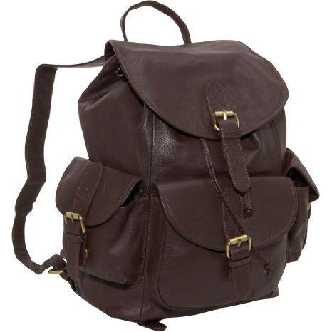 23ac143edcd5 Amazon.com: AmeriLeather Urban Buckle-Flap Backpack (Dark Brown ...
