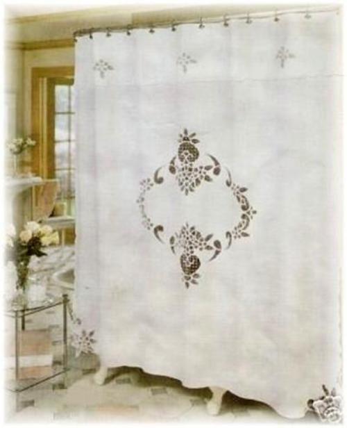 Battenburg Lace Shower Curtain Curtains