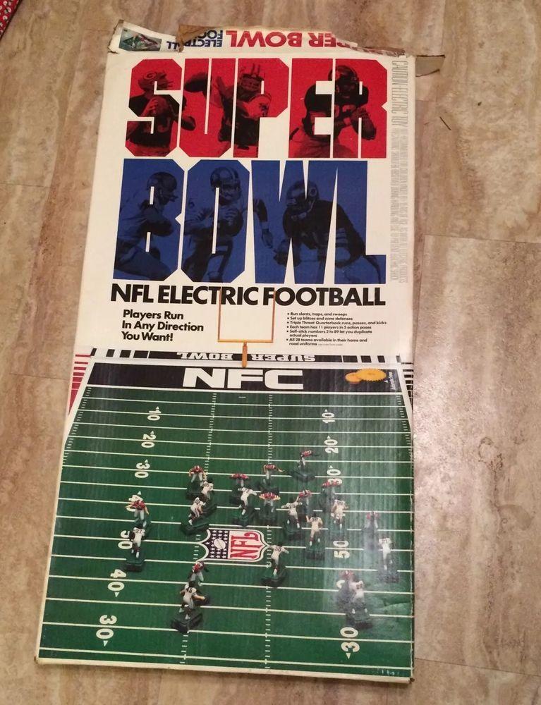 Vintage Tudor 600 Super Bowl AFC NFC Giants Broncos NFL Electric Football Game