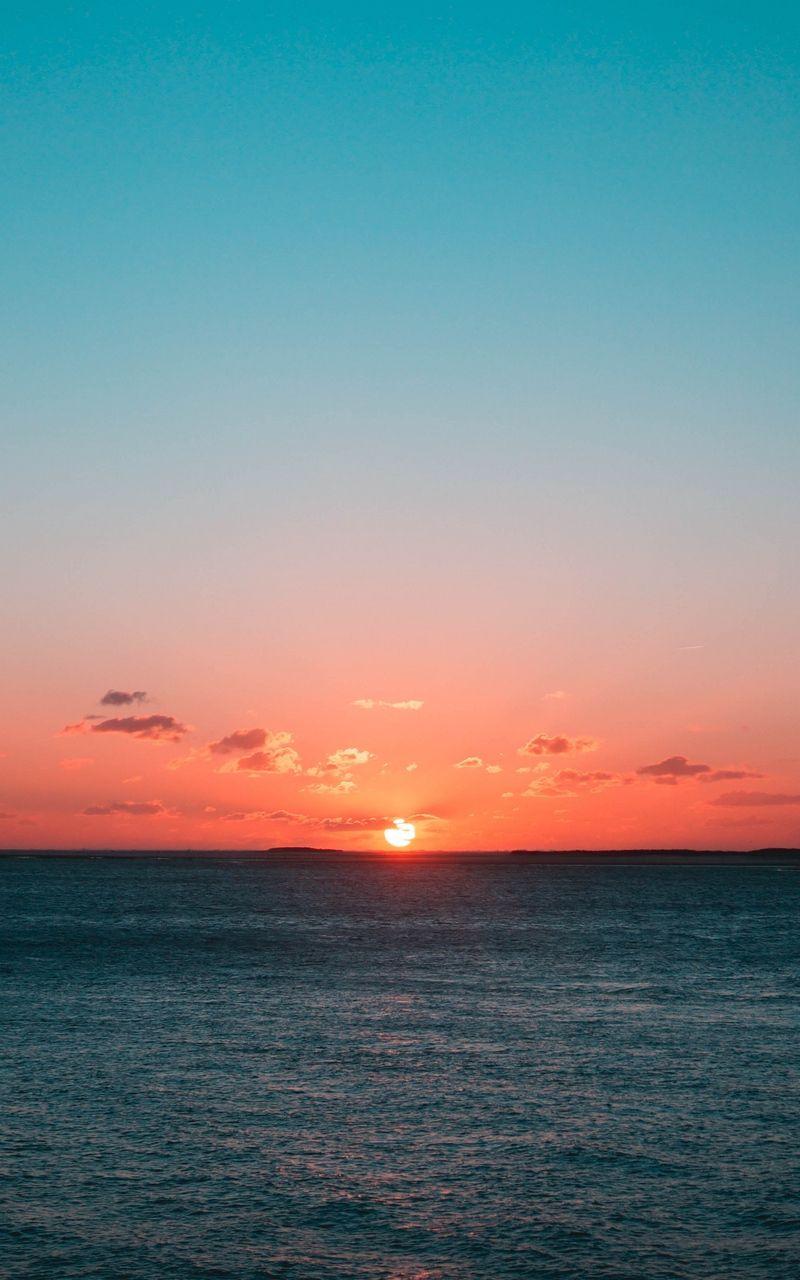 Wallpaper Horizon Sun Sunset Clouds Sea Sunset Clouds Horizon Art Horizon Sunset
