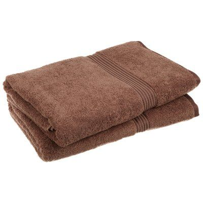 The Twillery Co Patric 2 Piece Egyptian Quality Cotton Bath Sheet