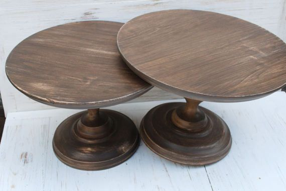 8 16 Inches Wooden Cake Stand Cake Stand Wedding Cake Pedestal Wedding Cake Stand Cupcake Stand Dessert Pedestal Pie Stand Wooden Cake Stands Wooden Cake Rustic Cake Stands