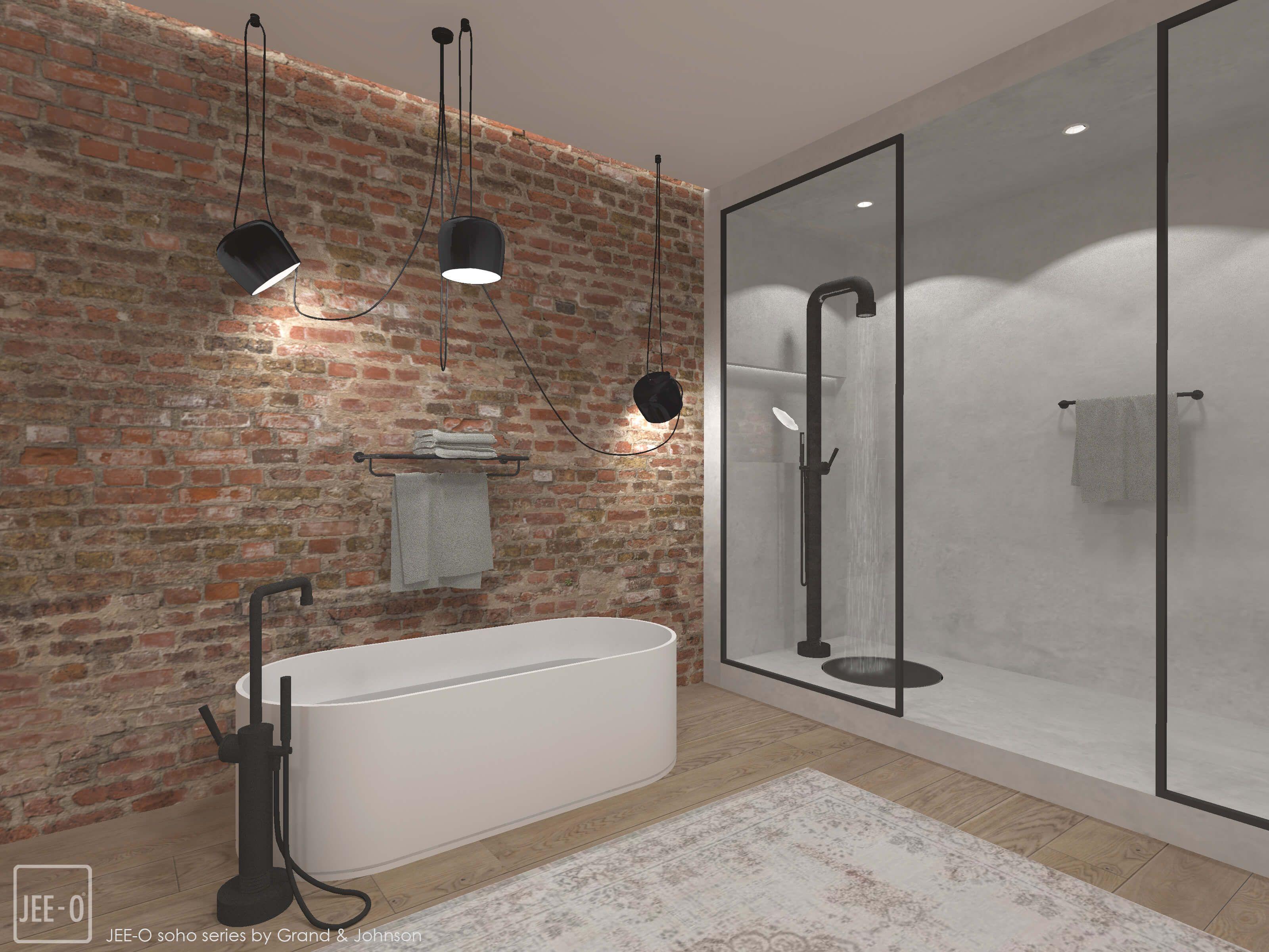 Een stoere badkamer met JEE-O   Pinterest - Wastafels, Baden en Kranen