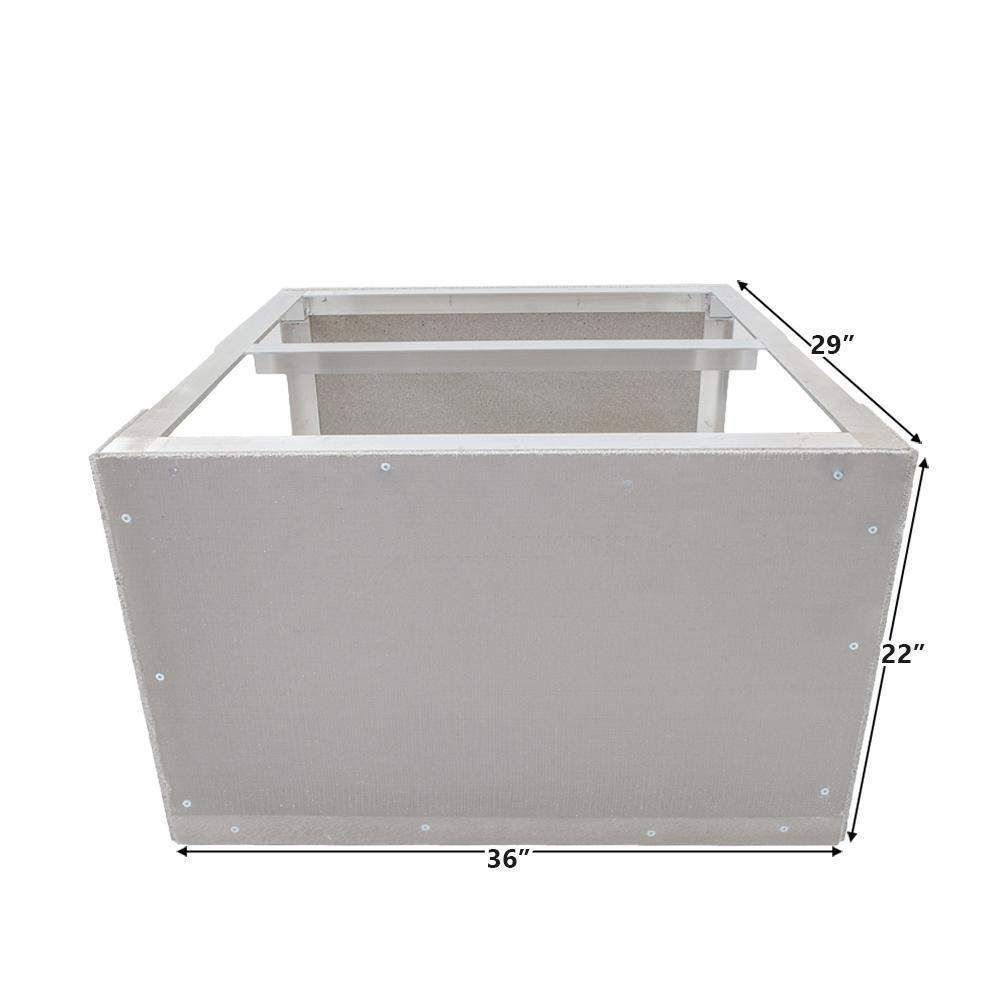 Kamado Cabinet 36w X 22h Easy Outdoor Kitchen Frame Kit With Cement Board By Grillnetics Build Outdoor Kitchen Diy Outdoor Kitchen Bbq Island