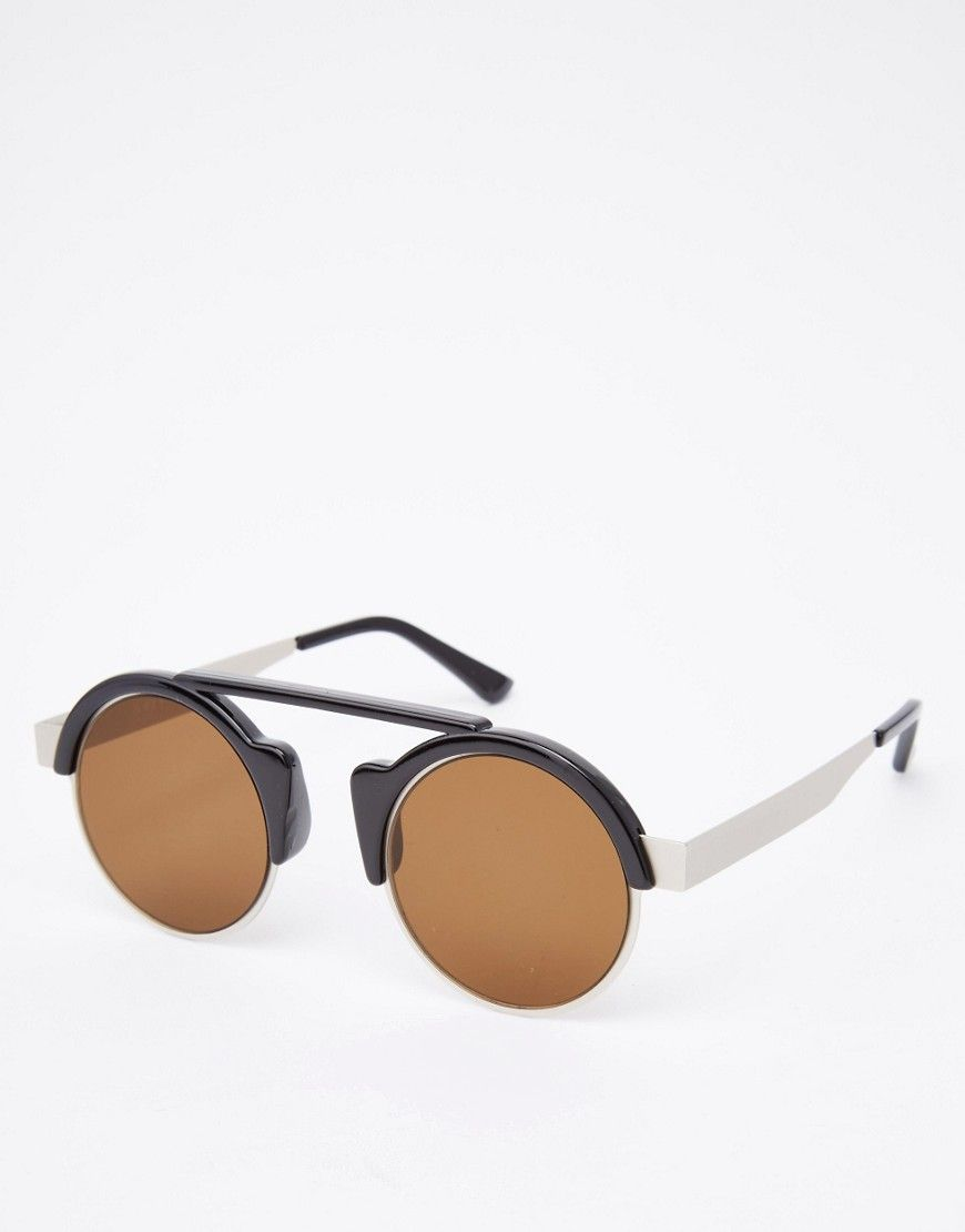 De sejeste Spitfire Off World Round Sunglasses In Brown - Black Spitfire Accessories til Herrer i behagelige materialer