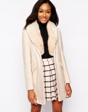 This ASOS tween faux fur collar coat is perfection! http://www