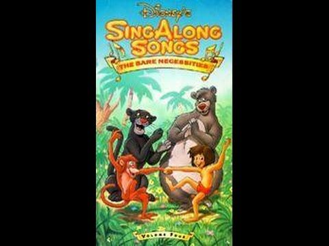 Disney Sing Along Songs The Bare Necessities 1987 1990 Part 1