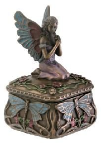Dragonfly Fairy Box Collectible Jewelry Holder free shipping