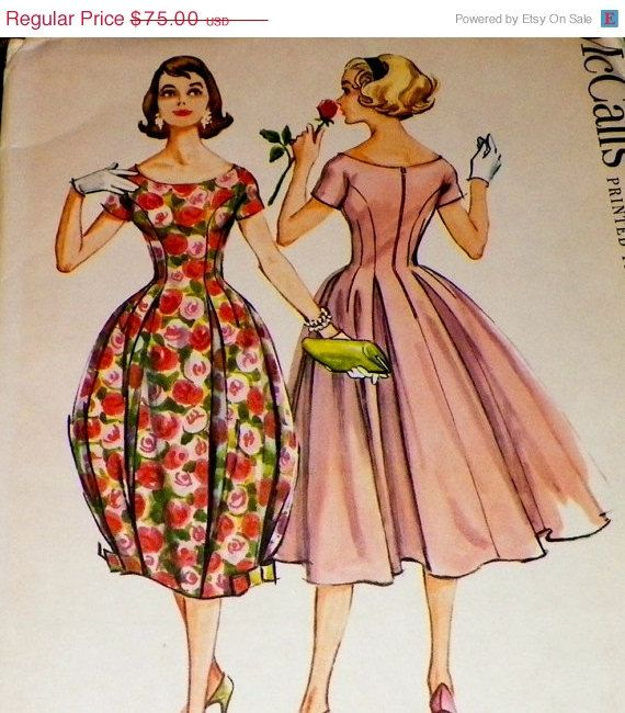 McCall's 4526 On Sale UNCUT 50s Sewing Pattern Dress Full by sewprettypatterns
