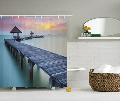 Ambesonne Wooden Bridge Decor Collection Wooden Bridge At Morning