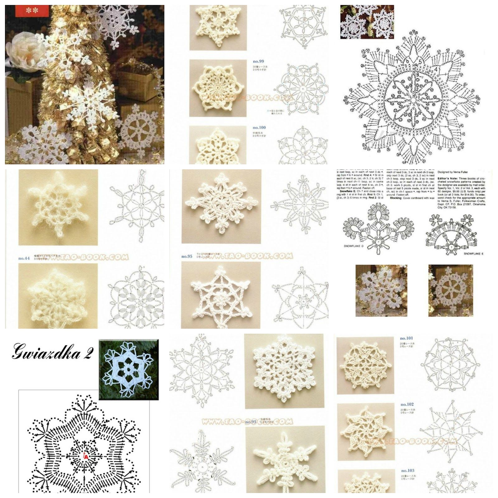 Stitch Diagram Crochet Snowflake Pattern - Electrical Drawing Wiring ...