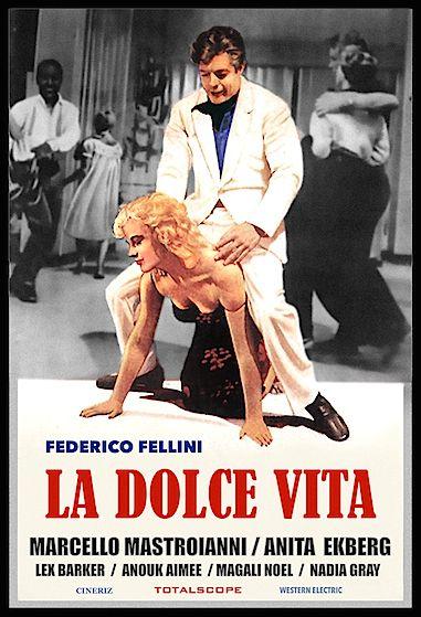 VINTAGE LA DOLCE VITA MOVIE POSTER A2 PRINT