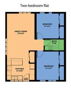 Http Www Daybreakcohousing Org Images 2br Flat Jpg Design Flat Design Apartment Design