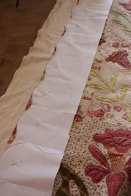 How to make a Scalloped Border.  [I have plastic scallop template complete with an instruction manual but this is a great idea for an improv.  NLP]