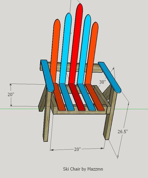 Build a Lawn Chair From Recycled Skis - the Ski Chair ...